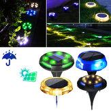 12 LED أرضية شمسية ضوء مصباح ليلي لتزيين الأرضية IP65 ضد للماء مصباح مسار حديقة في الهواء الطلق