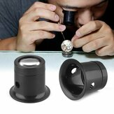 10X Monocular Glass Magnifier Watch Jewelry Repair Tools Loupe Lens Black DIY Jewelry Tool