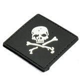 Patch de caoutchouc pvc morale de l'armée Tactical 6X6cm black slull 3d