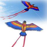 110x55 cm Colorful Papağan Uçurtma Uçan Oyuncaklar Çocuk Outdoor Oyun Faaliyetleri