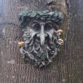Árbol de la estatua de la resina de la decoración al aire libre Colgante Escultura para la cara sonriente de la seta de la jardinería casera
