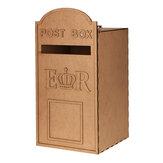 DIY MDF houten bruiloft postkaartdoos Royal Mailbox gestyled voor kaarten met slot