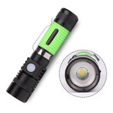 518B T6 3Montar Ultraleve USB Recarregável Zoomable Mini EDC LED Lanterna 18650
