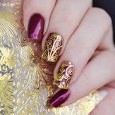 1 Blatt 3D Gold prägeartige Nagel Aufkleber Flower Blooming Decals Wunderschöne Maniküre