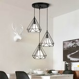 E27 Industrial Vintage Ceiling Chandelier Light Cage Shade Pendant Lamp Holder