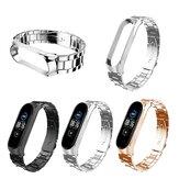 Bakeey Gesp Type Volledig roestvrij stalen horlogeband Horlogebandje voor Xiaomi Miband 5 Miband 5 NFC Niet-origineel
