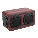 Kingneed S403 bluetooth Wireless Wooden 2 Speaker 2 Bass Membrane 2x3W Speaker