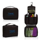 Mens Travel Wiszące Toaletowe Wash Prysznic Torba Organizator Kit Case Black & Blue