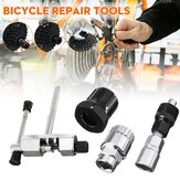 4 Pcs Bicycle Repair Tool Cycling Bike Chain Crank Wheel Set Remover Axle Tools