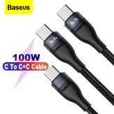 Baseus One para dos cables de 100 W USB-C a USB-C PD Cable de transmisión de datos de carga rápida BPS PD QC para Samsung Galaxy Note 20 Ultra S20 para iPad Pro 2020 MacBook Air 2020 para Nintendo Switch Huawei P40 Xiaomi Mi 10 Pro