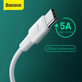 Baseus 5A Warp OPPO VOOC Certified USB Type-C Cable Fast Charging Data Sync Cord Line Support AFC/QC/FCP Protocols 2m/6.6ft For Type-C Smart Phones For Samsung Galaxy S20 Ultra Huawei P40 OnePlus 8 For Nintendo Switch