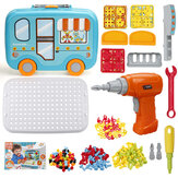 Børn Elektrisk boreskruelegetøj DIY Assembly Puzzle Kit Kids Educational Toys Gift
