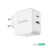 [GaN Tech] BlitzWolf® BW-S18 65W 2-Port USB-C PD Wall شاحن PD3.0 القوة Delivery الدعم QC3.0 SCP FCP Protocol Mini محول with EU Plug UK Plug US Plug For iPhone 12 12 Mini 12 Pro For iPad Pro 20020 لـ Samsung جالاكسي ملحوظة