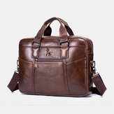 Genuine Leather Vintage Handbag Shoulder Bag Messenger Bag For Men