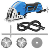 550W 4200rmp Mini Circular Saw Electric Handheld Multi-function Woodworking Tool with 3 Blades