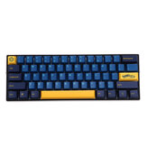 MechZone 108 Keys Blue Yellow Keycap Set OEM Profile PBT Keycaps for 61/68/87/104/108 Keys Mechanical Keyboards Comes With 4 Replacement Keycaps