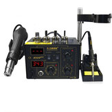 SAIKE 852D++ 110V / 220V 2 In 1 SMD Rework Station Hot Air Nozzle Soldeerstation Desoldeerstation