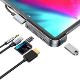 Baseus Type-C USB-C Hub Adapter Converter With USB 3.0 Port/Type-C Port/4K HD Video Interface/3.5mm Audio Interface/Memory Card Readers For Type-C Smart Phone Tablet for Samsung S20 for iPad Pro 2020 MacBook