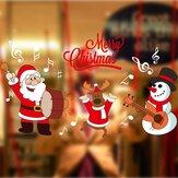 DIY Weihnachtswand Aufkleber Ausgangsdekor Weihnachtsmann Fenster Glas dekoratives Wand Abziehbild
