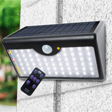 LED Solar Power PIR Motion Sensor Wall Light Outdoor Garden Lamp Remote Control Solar Light