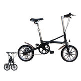 14 Inch Folding Bicycle Aluminum Lightweight Folding Mini Bike Double Disc Brakes Students Urban Commuter Bicycle