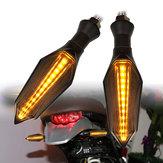 2pcs Moto LED Indicatore di direzione ambra lampada Indicatore luminoso a sequenza sequenziale