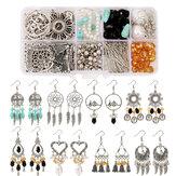 Ensemble de boucles d'oreilles bricolage vintage ensemble d'accessoires matériels à la main