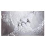 1 قطعة الحب قبلة مجردة قماش اللوحة جدار ديكور طباعة صور فنية فرملس الجدار الشنق زينة للمنزل مكتب