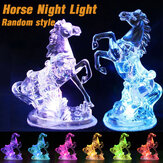 3D RGB LED Lâmpada de mesa Ilusão Night light Horse Ornament Para Home Car Party Wedding