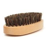 الخشب مقبض الخنزير اللحية ترويض الشارب فرشاة السلس نمط مشط الشعر