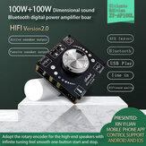 XY-AP100L 100 Вт + 100 Вт Bluetooth 5,0 + AUX HIFI Мощность сабвуфера Цифровой Усилитель Плата для домашнего кинотеатра 100 Вт * 2 AMP Модуль DC5V DC12V DC24V