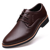 Microfiber Breathable Hollow Out Business Casual Oxfords