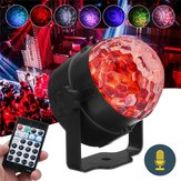 RGB Automotrice Flash Modalità remoto / Controllo vocale LED Stage Light Crystal Ball DJ Part Disco Club
