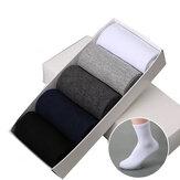 5 paar heren multicolor business sok ademende atletische katoenen crew sokken
