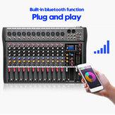 Mixer USB professionale Live Studio con 12 canali Amplificatore mixer audio Bluetooth