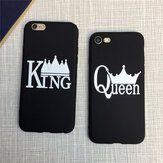 King And Queen Matte Soft TPU Protective Case for iPhone 7/8
