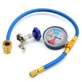 250PSI Recharge Measuring Hose Gauge Valve Refrigerant Pipe R134A R12 R22