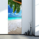3D Beach Dørklister Køleskab Decals Murals Home Wall Decorations