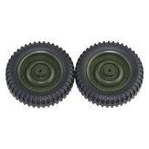 2Pcs JJRC Q65 C606-05 RC Car Tire 1/10 Vehicle نموذج Parts