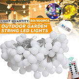 20/50/100LED Globe Bulb String Light USB Powered Outdoor Party Yard Room Decoration Fairy Lamp with Remote Control
