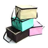 8 Polegadas Não-tecido Fresco Mantendo Tote Bolsa com Zipper Bolo de Piquenique Almoço Bolsa Reutilizável Mercearia Bolsa