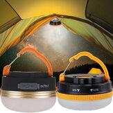 3WCampingLuzUSBRecarregável Lâmpada Ao Ar Livre Portátil de Emergência Lanterna LED