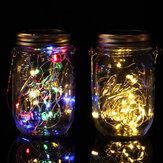 20 LED lampe de pot de maçon de lumière de chaîne solaire suspendue décor de jardin extérieur étanche
