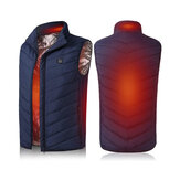 Women Men Electric Vest Heated Cloth Jacket USB Warm Up Heating Pad Body Warmer