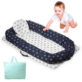 Folding Baby Bed Portable Kids Sleeping Basket Portable Infant Sleeper with Bumper Travel