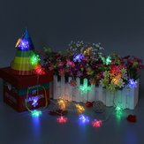Battery Powered 2M 20LEDs Snowflake Fairy String Light for Christmas Party