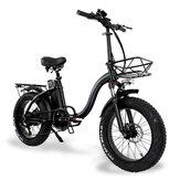 [EU Direct] CMACEWHEEL Y20 48v 15Ah 750W 20in Bicicleta elétrica dobrável 3 modos 45km / h Velocidade máxima 60-100km Freio a disco E bicicleta