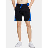 Herren Sport Patchwork Breathable Drawstring Casual Shorts