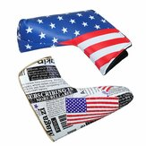 Sports Golf Putter Hoved Cover Club PU Hovedcover Universal American Flag Protector