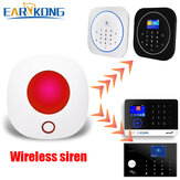 EARYKONG 433MHz Wireless Wifi Strobe Siren Sound and Light Siren For Alarm System Work With Tuya APP Alexa Google Home